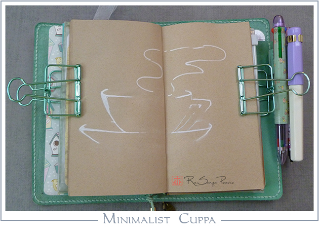 Minimalist Cuppa, Art 365-16-99, RaSonya Pearce, www.FaithworksArtStudio.com
