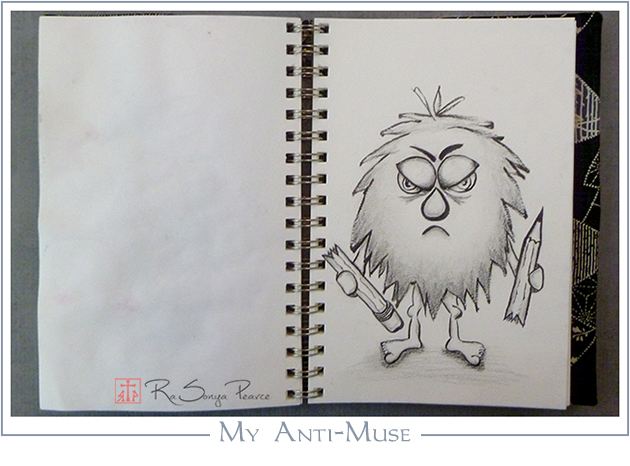 My Anti-Muse, Art 365-16-93, RaSonya Pearce, www.FaithworksArtStudio.com