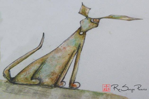 Odie, Art 365-16-117, RaSonya Pearce, www.FaithworksArtStudio.com