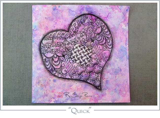 """Quick"", Art 365-16-102, RaSonya Pearce, www.FaithworksArtStudio.com"