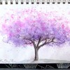 Redbud Tree, Art 365-16-92, RaSonya Pearce, www.FaithworksArtStudio.com