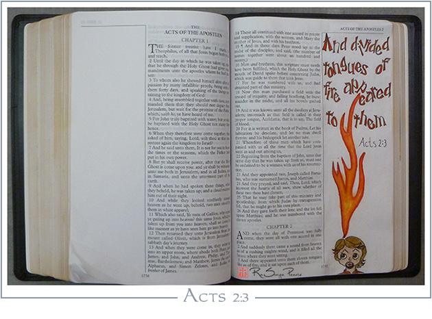 Acts 2:3, Art 365-16-136, RaSonya Pearce, www.FaithworksArtStudio.com