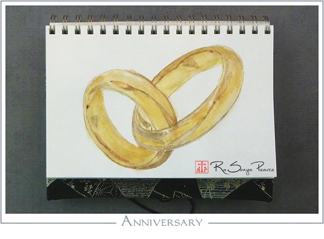 Anniversary, Art 365-16-149 RaSonya Pearce, www.FaithworksArtStudio.com