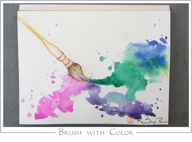 Brush with Color, Art 365-16-151, RaSonya Pearce, www.FaithworksArtStudio.com