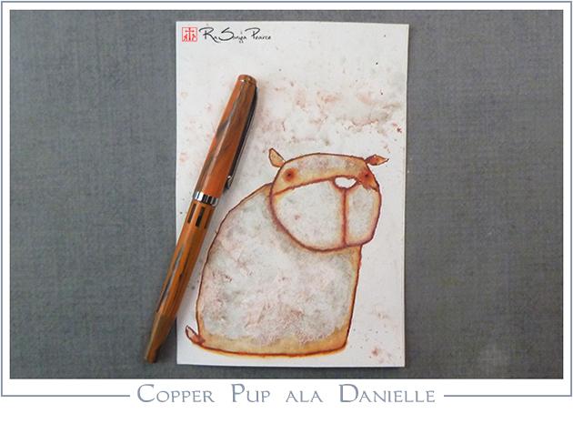 Copper Pup ala Danielle, Art 365-16-131, RaSonya Pearce, www.FaithworksArtStudio.com