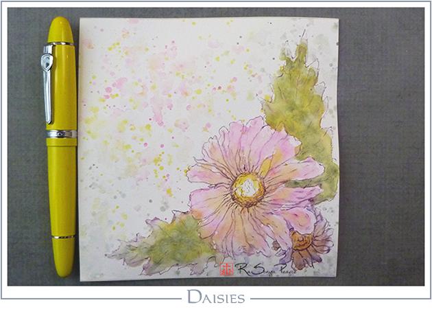 Daisies, Art 365-16-132, RaSonya Pearce, www.FaithworksArtStudio.com