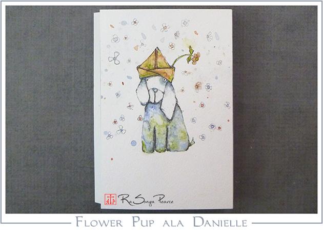 Flower Pup ala Danielle, Art 365-16-145, RaSonya Pearce, www.FaithworksArtStudio.com