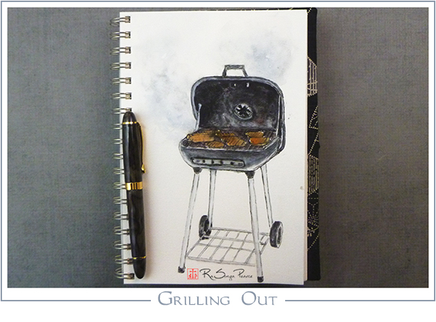 Grilling Out, Art 365-16-135, RaSonya Pearce, www.FaithworksArtStudio.com