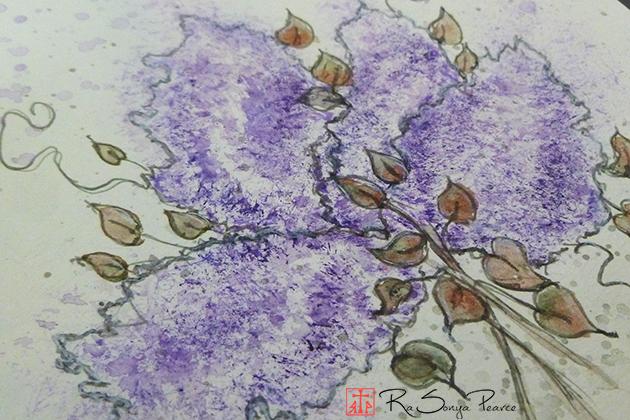 Lilac Experiment, Art 365-16-137, RaSonya Pearce, www.FaithworksArtStudio.com