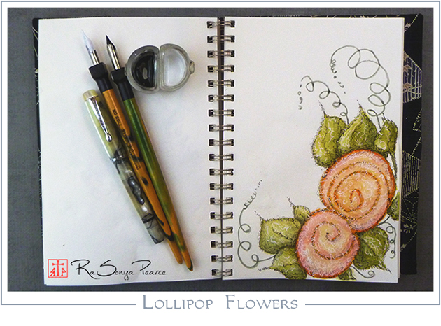 Lollipop Flowers, Art 365-16-138, RaSonya Pearce, www.FaithworksArtStudio.com