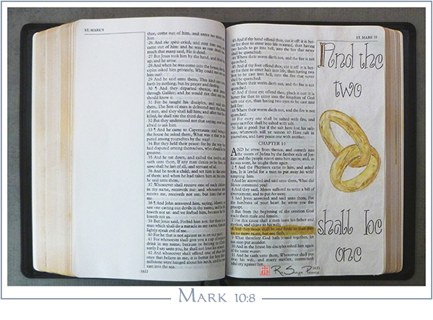 Mark 10:8, Art 365-16-150, RaSonya Pearce, www.FaithworksArtStudio.com