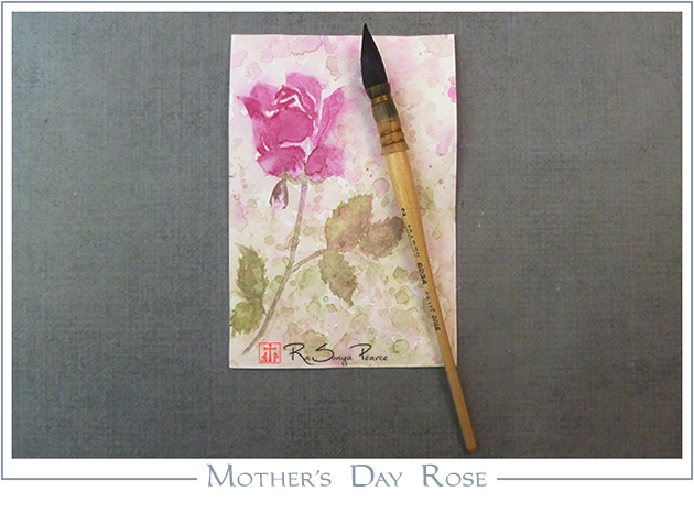 Mother's Day Rose, Art 365-16-133, RaSonya Pearce, www.FaithworksArtStudio.com