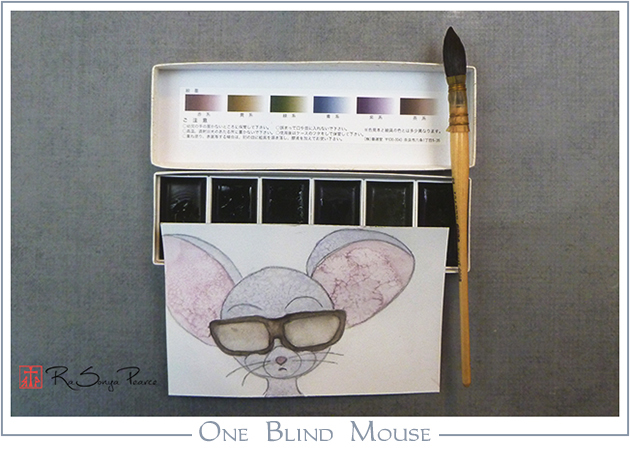 One Blind Mouse, Art 365-16-123, RaSonya Pearce, www.FaithworksArtStudio.com