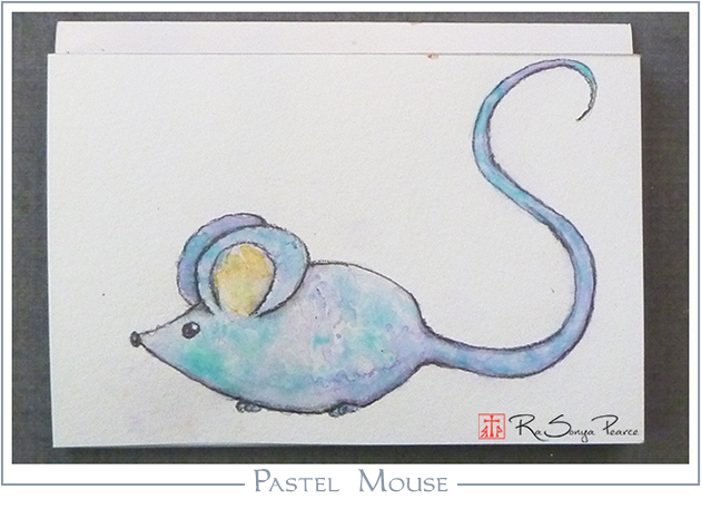 Pastel Mouse, Art 365-16-148, RaSonya Pearce, www.FaithworksArtStudio.com