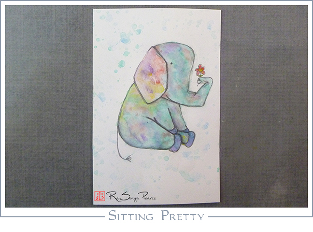 Sitting Pretty, Art 365-16-125, RaSonya Pearce, www.FaithworksArtStudio.com