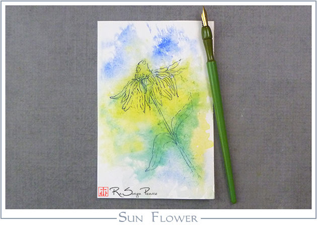 Sun Flower, Art 365-16-128, RaSonya Pearce, www.FaithworksArtStudio.com