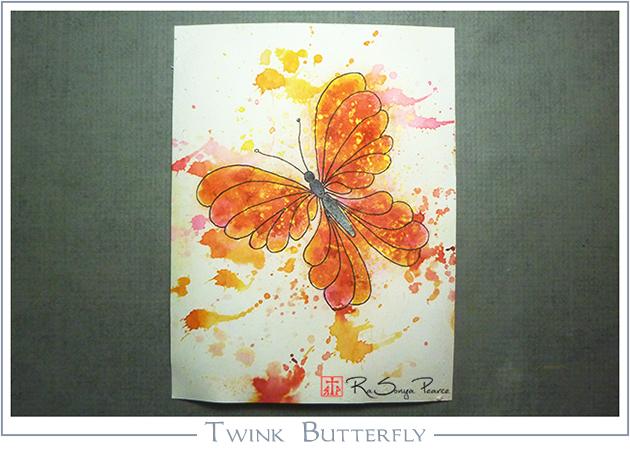 Twink Butterfly, Art 365-16-142, RaSonya Pearce, www.FaithworksArtStudio.com
