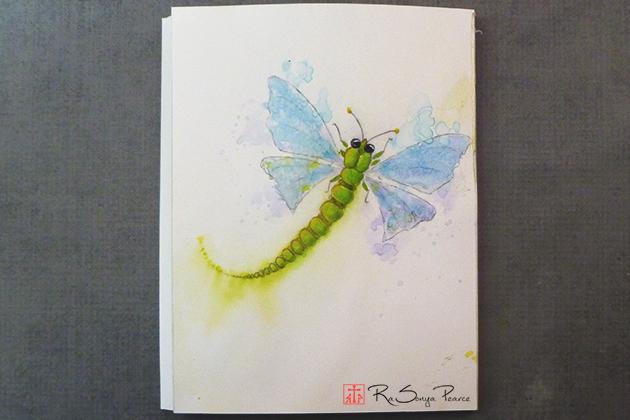 Twink Dragonfly, Art 365-16-141,  RaSonya Pearce, www.FaithworksArtStudio.com