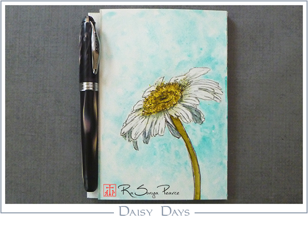Daisy Days, Art 365-16-155, RaSonya Pearce, www.FaithworksArtStudio.com
