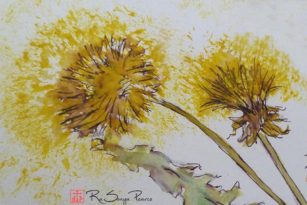 Dandelions, Art 365-16-154, RaSonya Pearce, www.FaithworksArtStudio.com