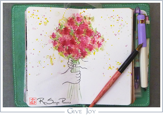 Give Joy, Art 365-16-152, RaSonya Pearce, www.FaithworksArtStudio.com