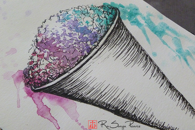 Snow Cone, Art 365-16-153, RaSonya Pearce, www.FaithworksArtStudio.com