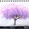 Redbud Tree, Art 365-16-92, RaSonya Pearce, www.FaithworksArtStudio.com