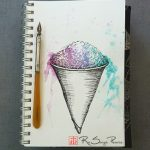 Snow Cone, Art 365-16-153, RaSonya Pearce, www.FaithworksArtStudio.com