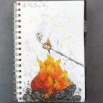 Campfire Tale, RaSonya Pearce, www.FaithworksArtStudio.com